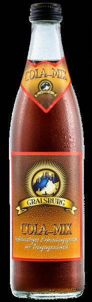 Gralsburger - Cola-Mix in der 0,5l Glasflasche