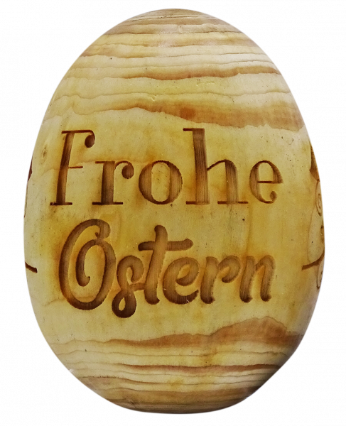 "Holz-Osterei ""Frohe Ostern"""