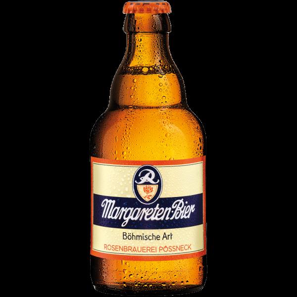 Margareten Bier - Pils-Bier der Rosenbrauerei Pößneck in der 0,33l Steiniflasche