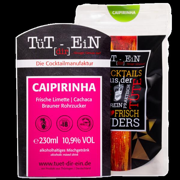 Caipirinha - Cocktail mit Thoquino Cachaca und Limettensaft von Tüt dir ein