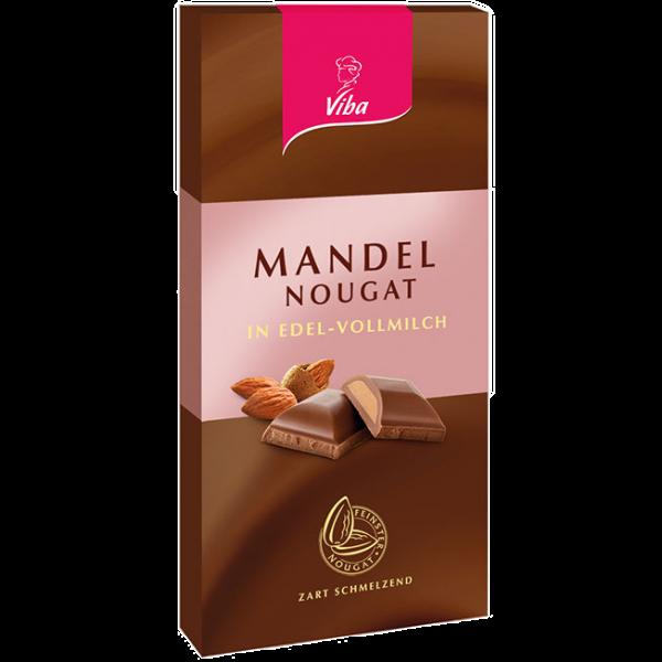 Tafelschokolade Mandel-Nougat