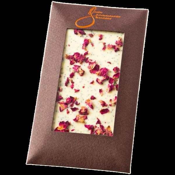 Weiße Schokolade Rosenblüten
