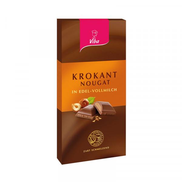 Edelvollmilchschokolade Krokant-Nougat - Viba