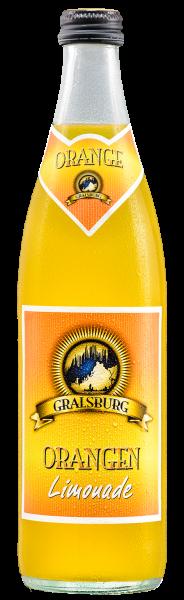 Gralsburger - Orangen-Limonade 0,5l Glasflasche