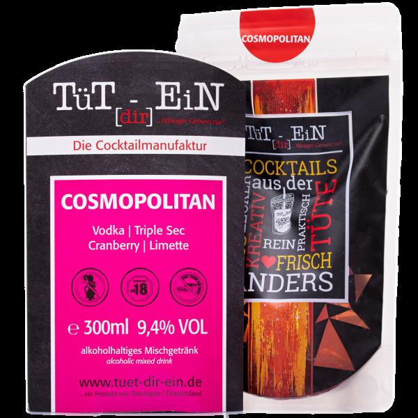 Cosmopolitan - Cocktail mit Vodka und Orangenlikör von Tüt dir ein