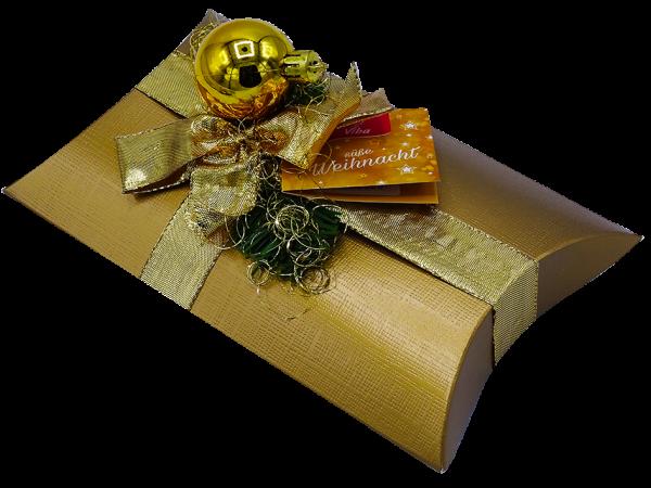 Weihnachts-Geschenkschachtel gold