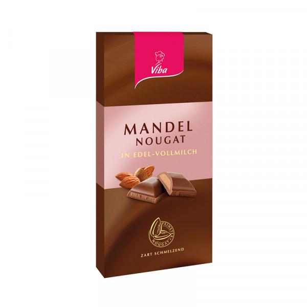 Edelvollmilchschokolade Mandel-Nougat - Viba