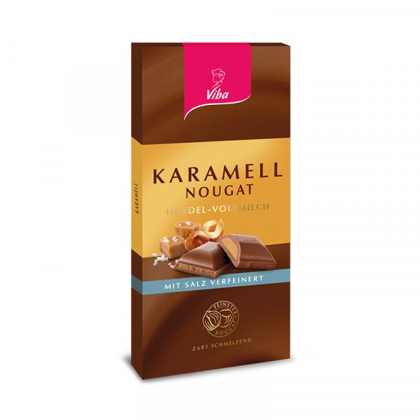 Tafelschokolade Karamell-Nougat