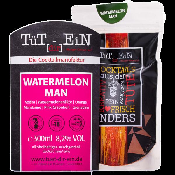 Watermelon Man - Cocktail mit Vodka und Wassermelonenlikör von Tüt dir ein
