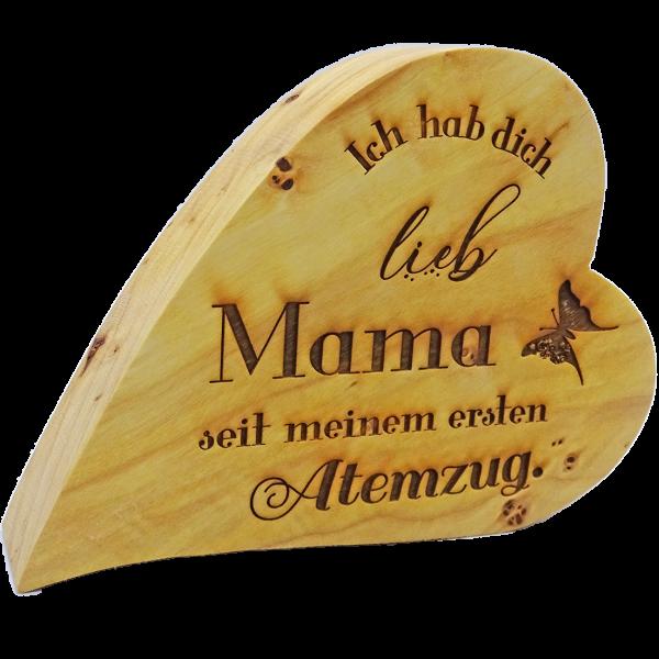 """Holzherz """"Mama"""""""
