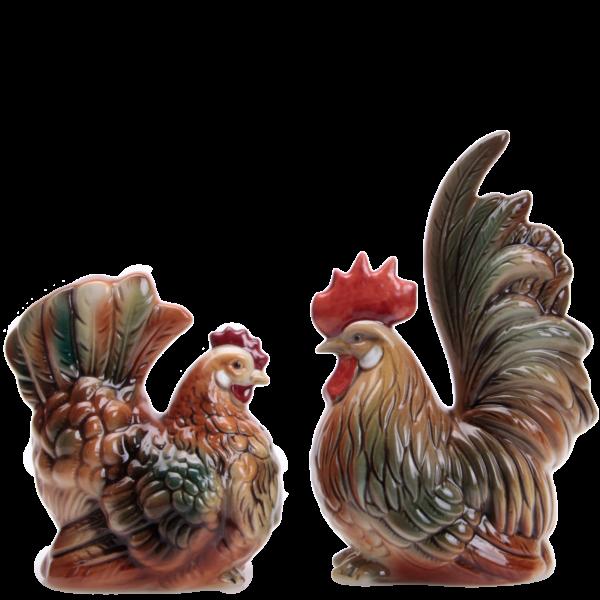 Hahn und Henne - Porzellanfiguren von Wagner & Apel