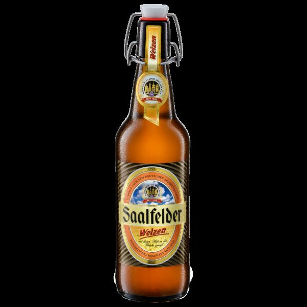 Weizen-Bier - Saalfelder Bier in der 0,5l Bügelflasche