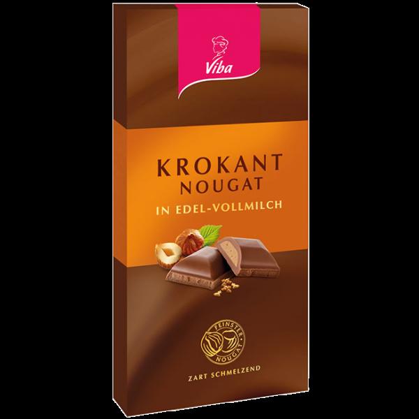 Tafelschokolade Krokant-Nougat