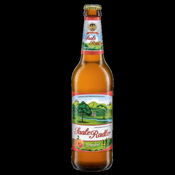 Saale-Radler-Grapefruit - Saalfelder Bier in der 0,5l Flasche