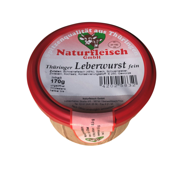 Thüringer Leberwurst fein