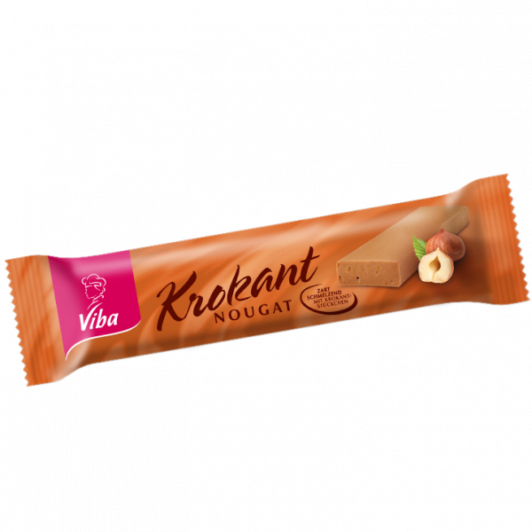 Krokant-Nougat Riegel von Viba Sweets