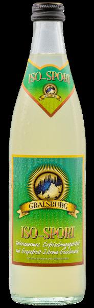 Gralsburger - Iso-Sport in der 0,5l Glasflasche