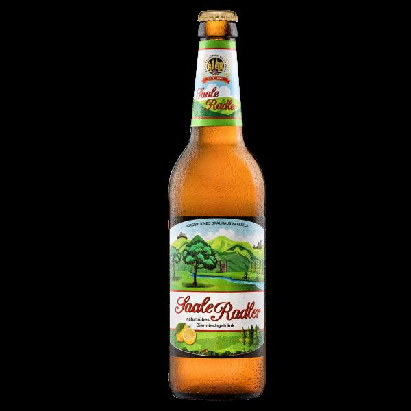 Saale-Radler naturtrüb - Saalfelder Bier in der 0,5l Flasche