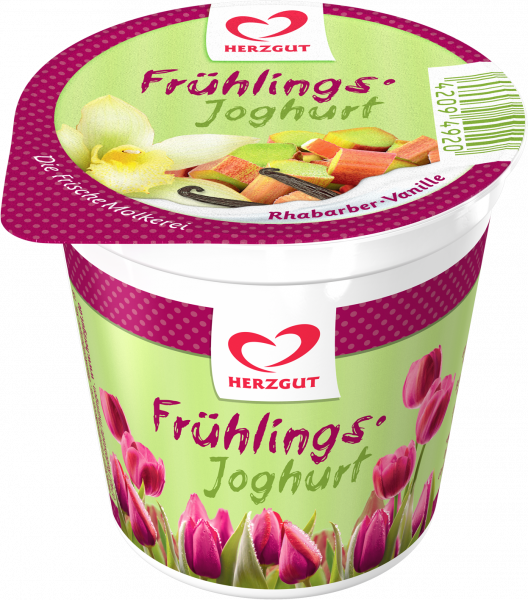 Frühlingsjoghurt Rhabarber-Vanille