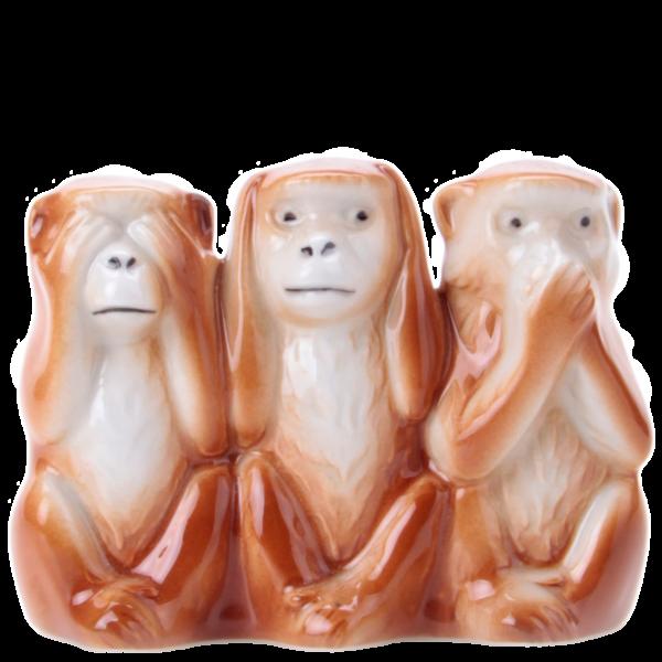 Drei Affen - Porzellanfiguren von Wagner & Apel